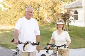 Couple Bike Riding